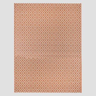 5' x 7' Geo Diamond Outdoor Rug Terracotta - Threshold™