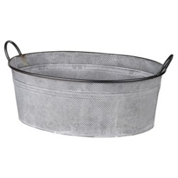 Clemson Handled Oval Metal Tub - A&B Home