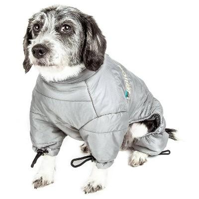 Dog Helios Thunder-Crackle Full-Body Waded-Plush Adjustable and 3M Reflective Dog Jacket - Gray