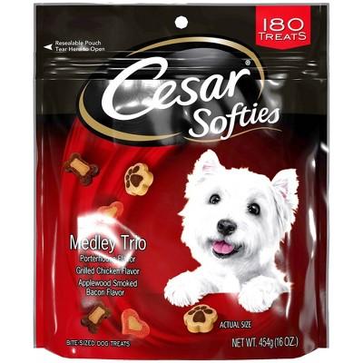 Cesar Softies Medley Trio Chewy Dog Treats  - 16oz - 180ct