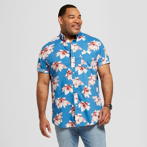 Men's Big & Tall Short Sleeve Soft Wash Standard Fit Button-Down Shirt - Goodfellow & Co™ - image 1 of 3