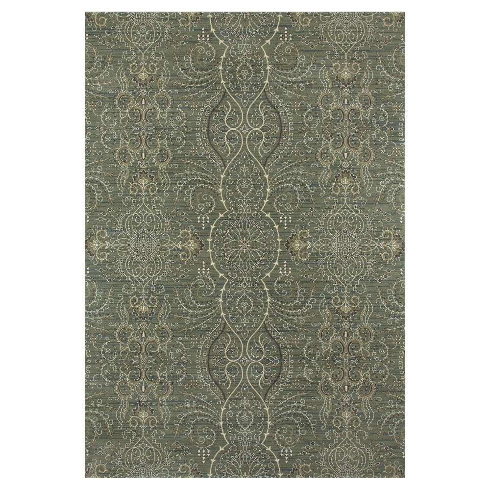 lt sage Green Abstract Woven Area Rug - (6'X9') - Art Carpet