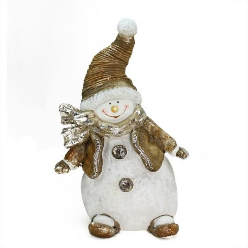 "Northlight 17"" Whimsical Snowshoeing Ceramic Christmas Snowman Decorative Tabletop Figure - image 1 of 2"