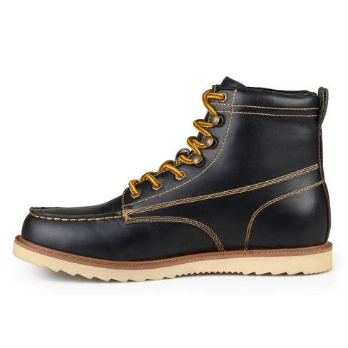 f8175a98d822 Men s Vance Co. Wyatt Faux Leather Lace-up Moc Toe Work Boots   Target