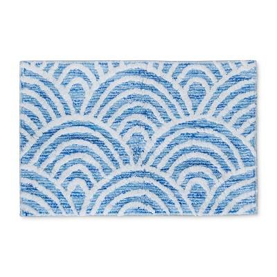 Scallop Tufted Bath Rugs And Mats Capri Blue - Opalhouse™