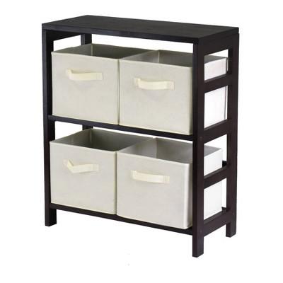 Decorative Storage Cabinets Espresso Brown - Winsome