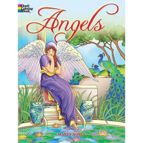 Angels Coloring Book Dover Coloring Books By Marty Noble Paperback Target