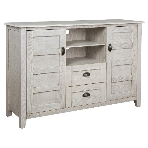 """52"""" Rustic Chic TV Console - White Wash - Angelo:Home - image 1 of 3"""