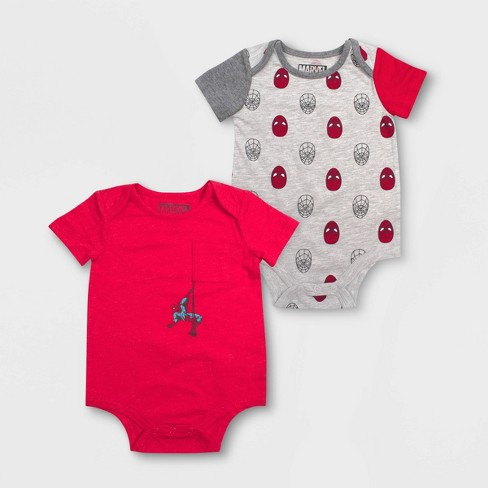 Baby Boys' 2pk Spider-Man Bodysuits - Red - image 1 of 1