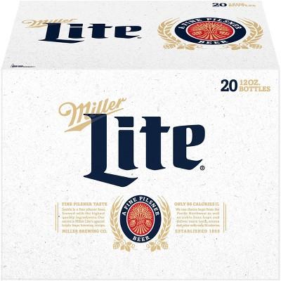 Miller Lite Beer - 20pk/12 fl oz Bottles