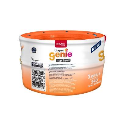Diaper Genie Diaper Pail Liner Max Fresh - 2pk Refill