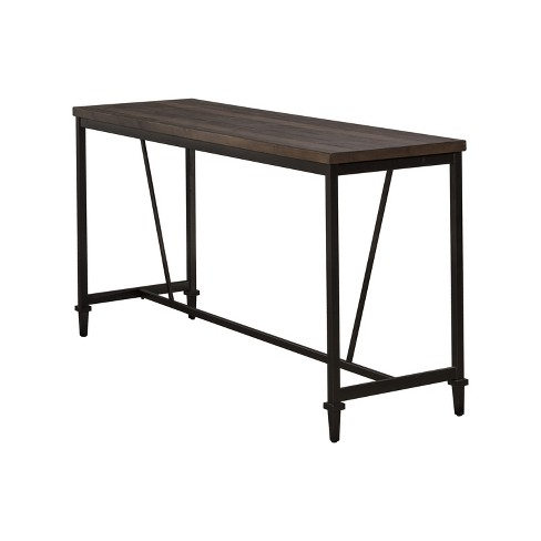 Trevino Counter Height Table Brown Copper Metal Hilale Furniture