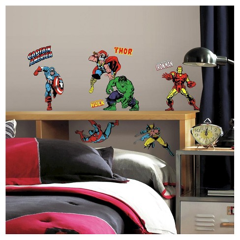 32 MARVEL CLASSICS Peel and Stick Wall Decal - ROOMMATES - image 1 of 4