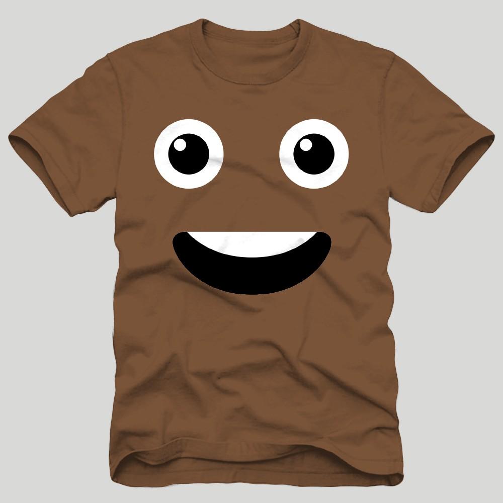 Men's Emoji Short Sleeve T-Shirt - Brown 2XL