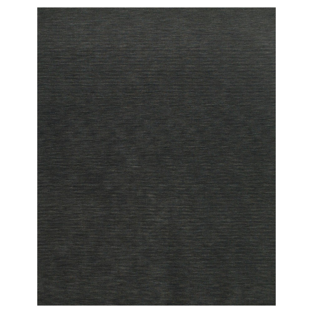 8'X11' Solid Woven Area Rugs Charcoal (Grey) - Room Envy