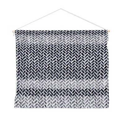 "22""x16"" Little Arrow Design Co Arcadia In Indigo Wall Hanging Landscape Tapestries Black - Deny Designs"