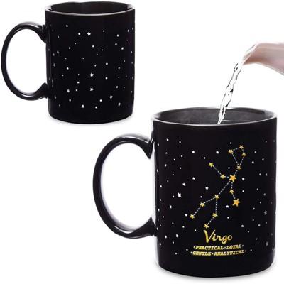 Okuna Outpost Virgo Color Changing Mug, Zodiac Astrology Sign Cup (11 oz)