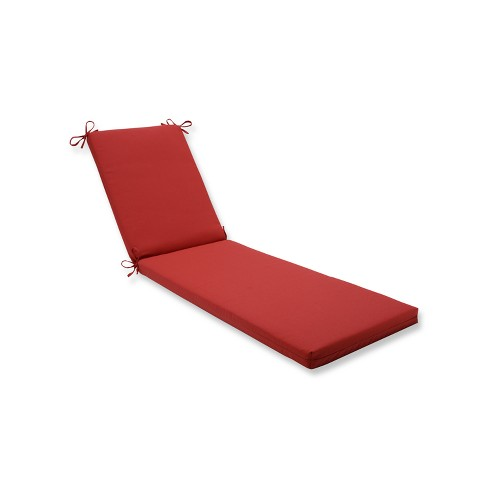 Indoor/Outdoor Tweed Red Chaise Lounge Cushion - Pillow Perfect - image 1 of 1
