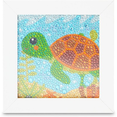 """Bright Creations Turtle 5D Diamond Painting Kits with Frame, DIY Arts and Crafts Home Wall Decor for Kids, 6"""" x 6"""""""