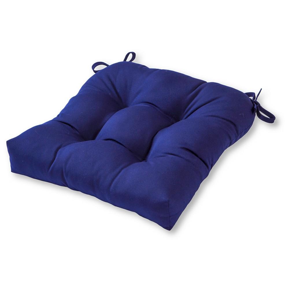 Outdoor Solid Navy Sunbrella Seat Cushion Kensington Garden