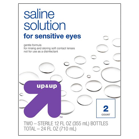 Saline Solution for Sensitive Eyes - 2ct (12oz each) - Up&Up™ - image 1 of 1