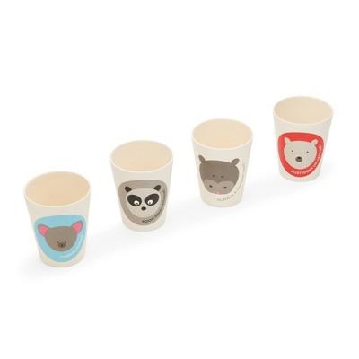 8.5oz 4pk Bamboo Fiber Animal Cups - Red Rover Dinnerware