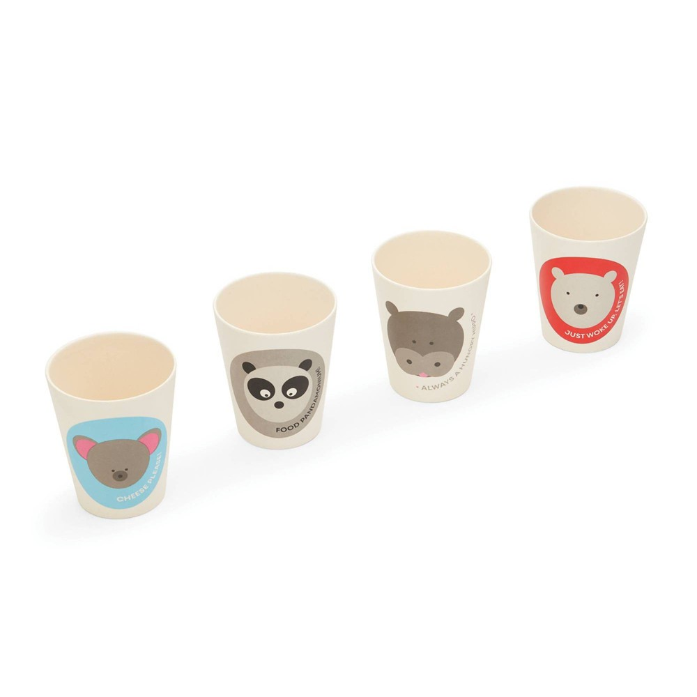 Image of 8.5oz 4pk Bamboo Fiber Animal Cups - Red Rover Dinnerware