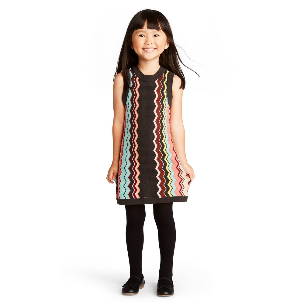 60s 70s Kids Costumes & Clothing Girls & Boys Toddler Girls Colore Zig Zag Sleeveless Crewneck Sweater Dress - Missoni for Target 18M Womens Brown Pink $13.50 AT vintagedancer.com