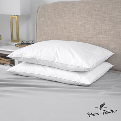 SensorPEDIC Quilless Micro-Feather Plush Pillows 2 Pack