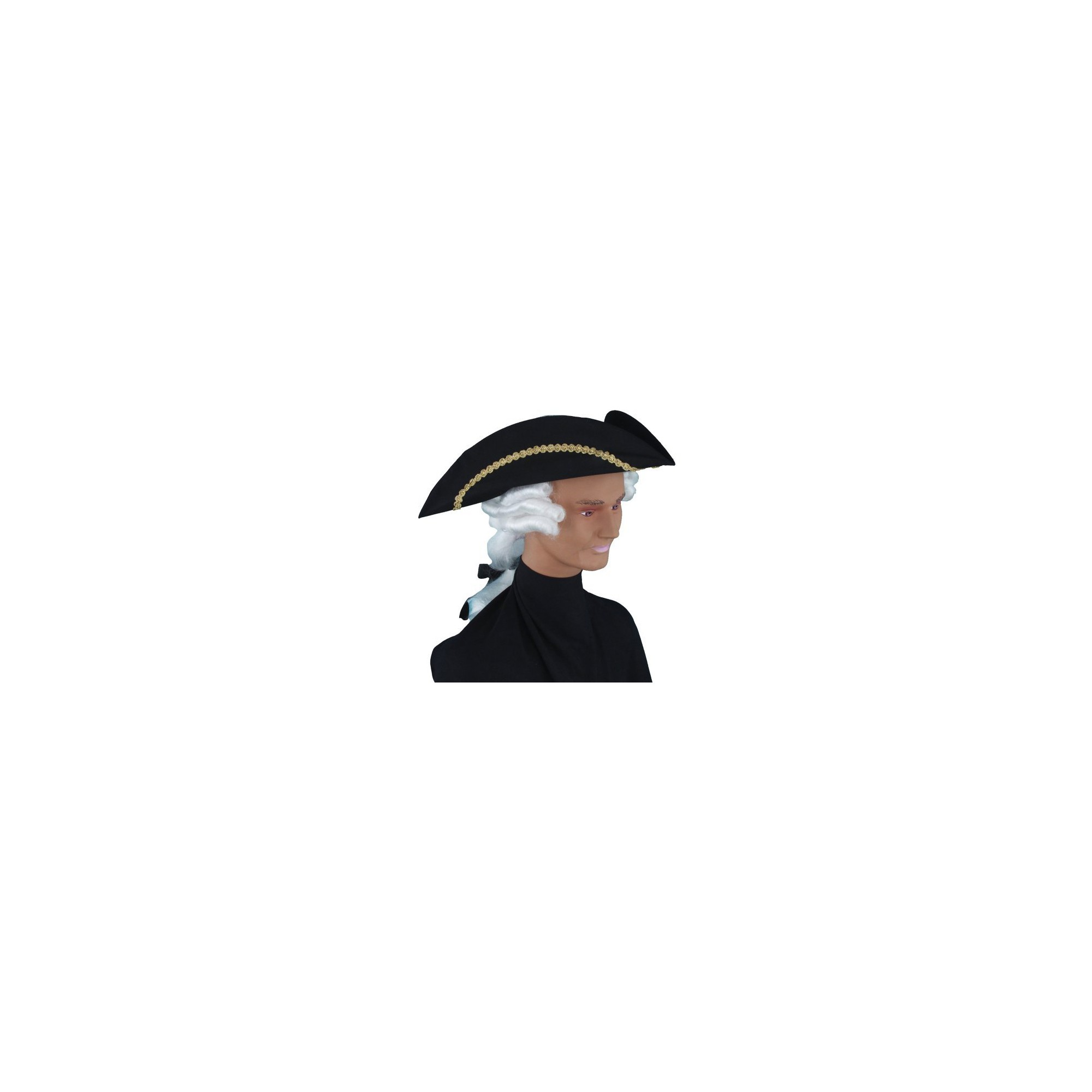 Halloween Kids' Colonial Hat with Wig Costume Accessory, Men's