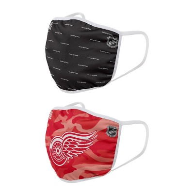 NHL Detroit Red Wings Adult Face Covering 2pk