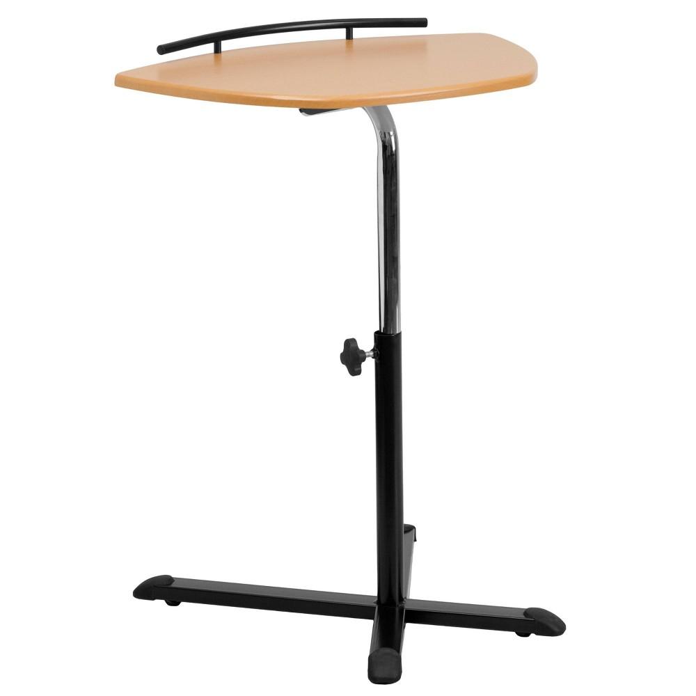 Image of Height Adjustable Natural Laptop Computer Desk - Flash Furniture, Black