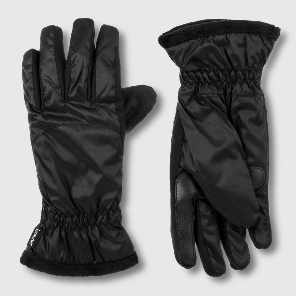 Image of Isotoner Women's Sleek Heat Glove - Black One Size, Women's