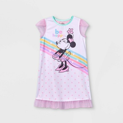 Girls' Minnie Mouse Be Happy Dorm NightGown - Pink