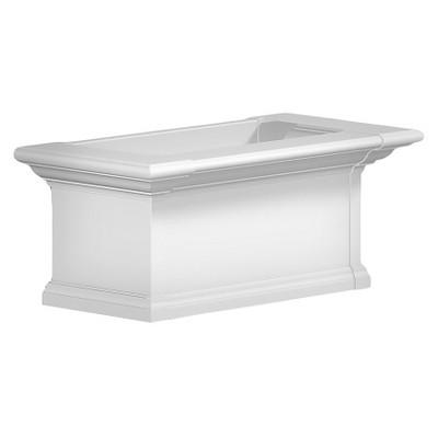 2' Yorkshire Rectangular Window Box White - Mayne