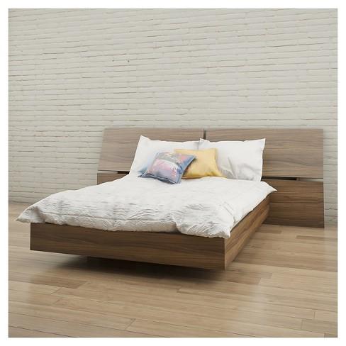 Alibi Full Size Platform Bed Walnut Nexera