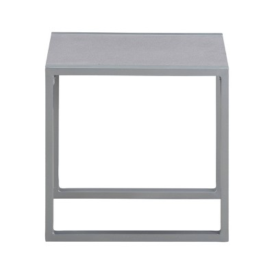 Tropez Pebbled Glass Outdoor Side Table - French Gray - Adore Core