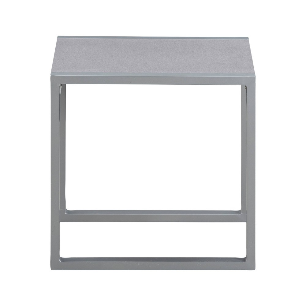 Image of Tropez Pebbled Glass Outdoor Side Table - French Gray - Adore Core