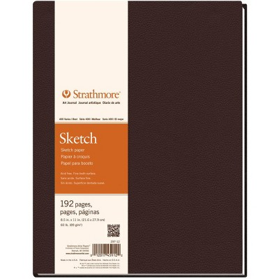 Strathmore 400 Series Sketchbook, 8-1/2 x 11 Inches, 60 lb, 96 Sheets