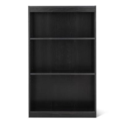 3 Shelf Bookcase Black - Room Essentials™