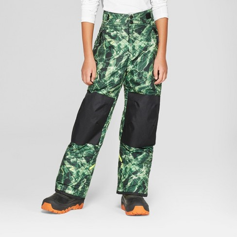 181f59e5eab2 Boys  Static Ripple Print Snow Pants - C9 Champion® Black Green   Target