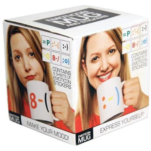 Paladone Products Ltd. Emoticon Coffee Mug & Stickers - image 1 of 1