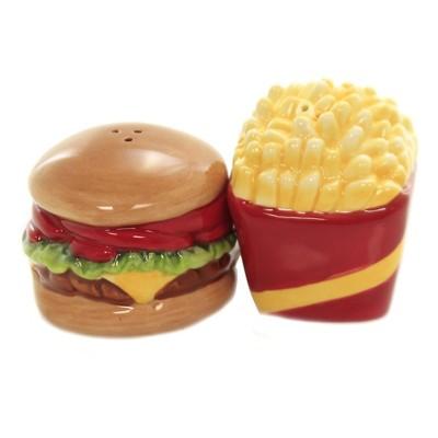 "Tabletop 2.25"" Kisisng Burger & Fries Set/2 Salt Pepper Shaker Magnetic Pacific Trading  -  Salt And Pepper Shaker Sets"