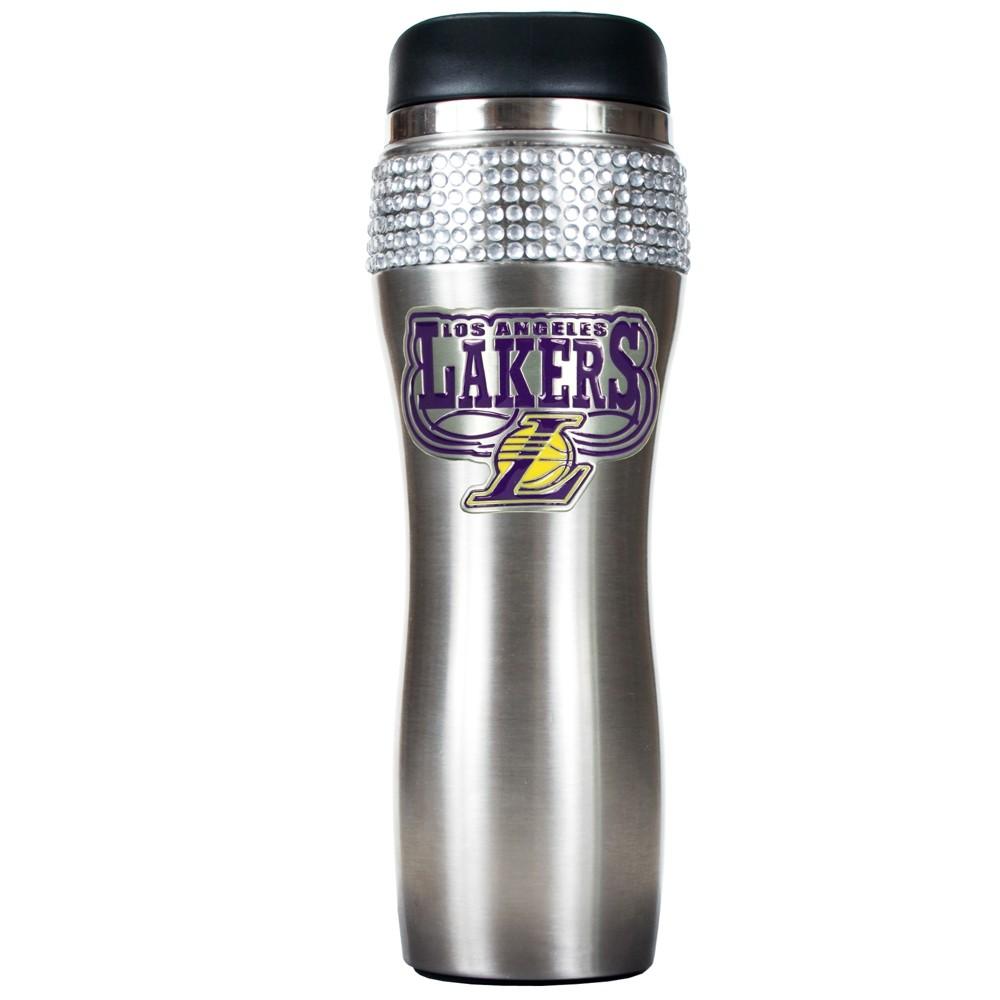 NBA Los Angeles Lakers 14oz Bling Silver Jeweled Tumbler