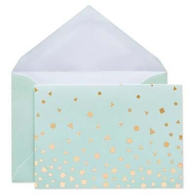 24ct Blank Cards with Envelopes Golden Dots - Spritz™