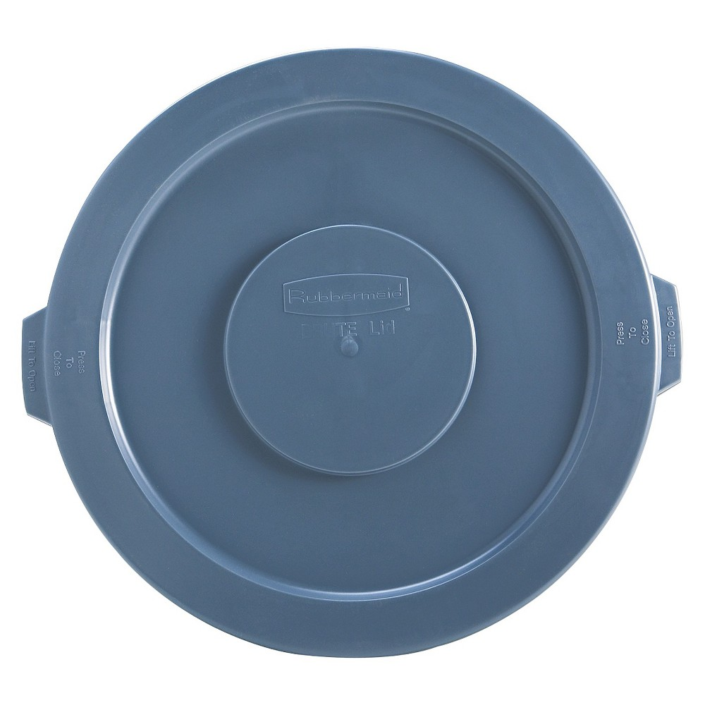 Image of Rubbermaid Trash Can Lid, Gray
