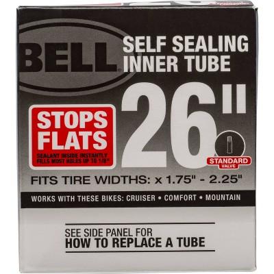"""Bell 26"""" Self Sealing Bike Inner Tube - Black"""