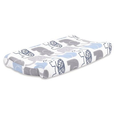 The Peanutshell Little Peanut Changing Pad Cover - Navy