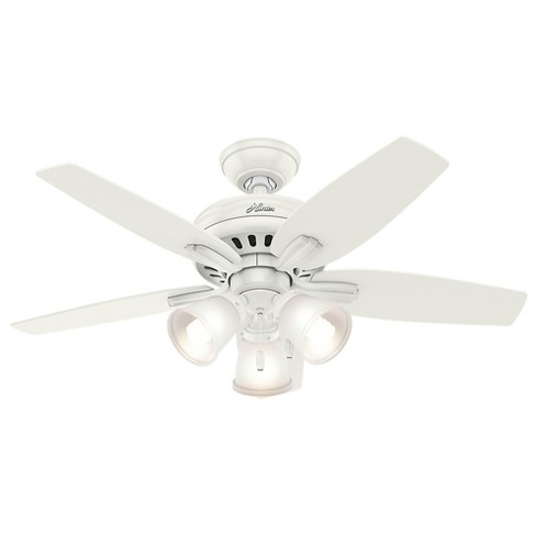 "42"" Newsome Fresh White Ceiling Fan with Light - Hunter Fan - image 1 of 10"