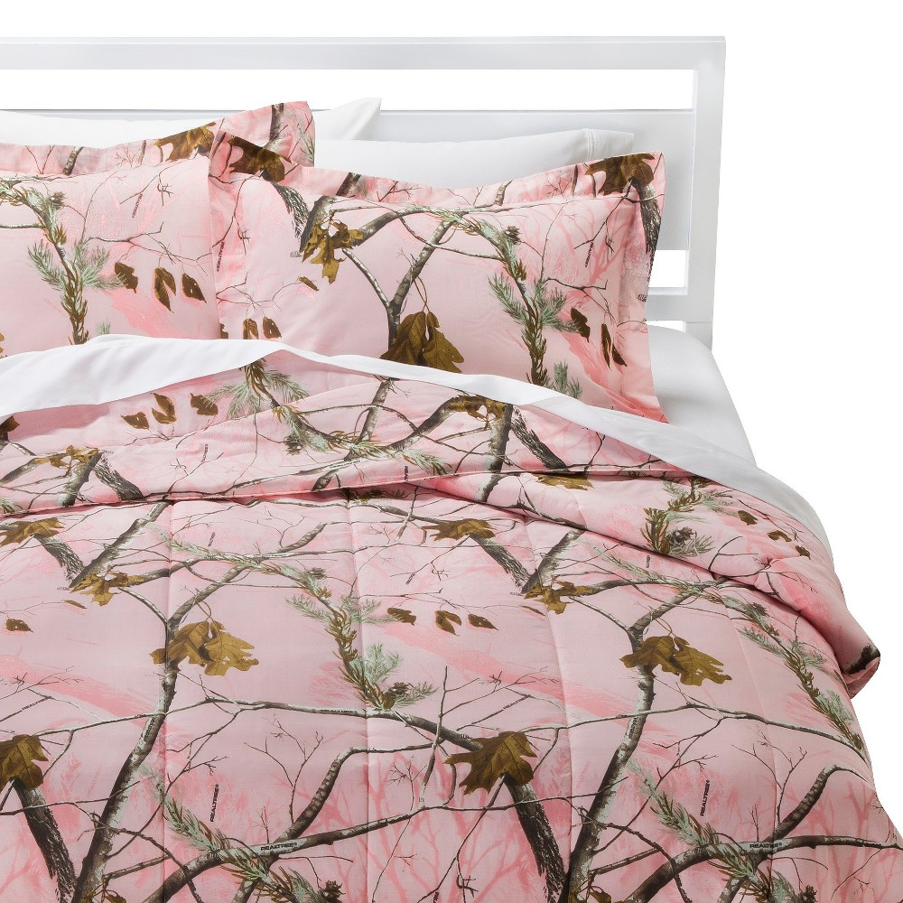 Image of Realtree Nature Inspired Comforter Set - Pink (Full)